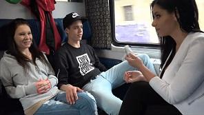 Czech Couple – Young people fucking in czech train