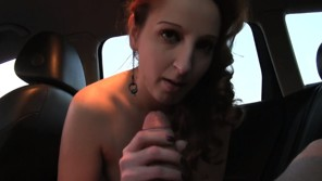 Public Agent – Hot ginger girl fucked in car