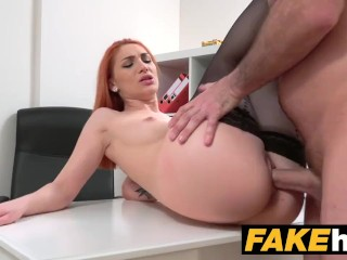 FakeAgent – Horny redhead wants hard cock in her wet pussy