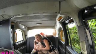 FemaleFakeTaxi – Fast pussy licking on backseat of taxi
